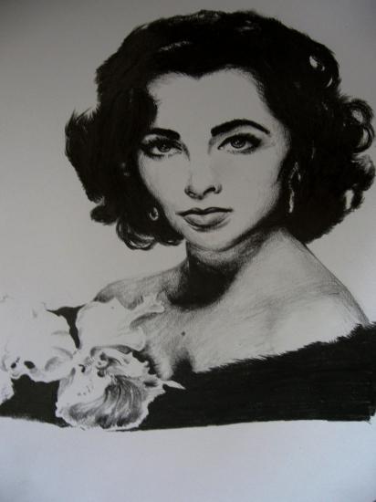 Elizabeth Taylor by Lampert
